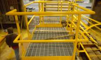 Walkway Platform and Handrails