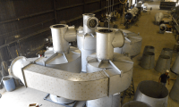 Refractory Lined Quad Dust Collectors for Charcoal Comp.